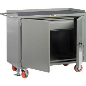 "Little Giant MM-2D-2448-HDFL  48"" W Mobile Bench Cabinets, Heavy-Duty Drawer, 2 Doors"