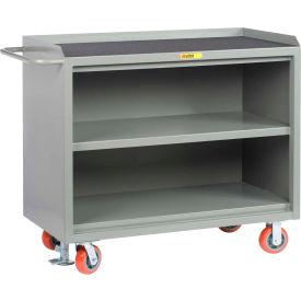 """Little Giant MM3-2448-FL  48"""" W Mobile Bench Cabinets, Center Shelf, Non-Slip Vinyl Top"""