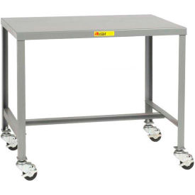 "Little Giant MT1-2448-24-3R Steel Top Machine Table, 24""D x 48""W x 24""H, 2000 lbs. Capacity"