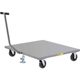 Little Giant® Pallet Dolly PDST-4848-6PHFL with T-Handle - Solid Deck - 48 x 48 & Floor Lock