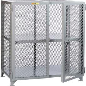 "Little Giant® Welded Storage Locker w/Adjustable Center Shelf, Mesh Sides, 61""W x 27""D x 52""H"