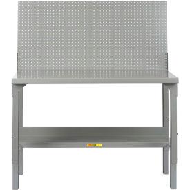 "Little Giant WA-2860-PB  60""W x 28""D Welded Workbench, Backstop, Pegboard Panel, Adjustable Height"