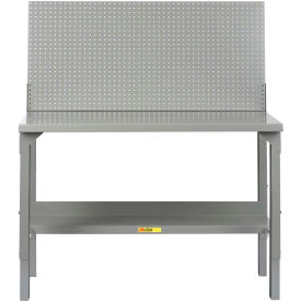 "Little Giant WA-2872-PB  72""W x 28""D Welded Workbench, Backstop, Pegboard Panel, Adjustable Height"