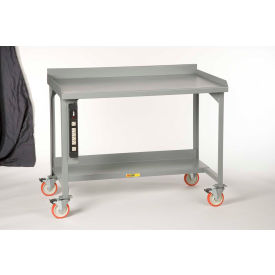 """Little Giant WM-2848-E-P Mobile Welded Workbenches w/ Back Stop, 28"""" x 48"""""""