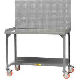 "Little Giant WM-2848-PB  Mobile Workbench, Backstop, Pegboard Panel, 28"" D x 48"" W x 36"" H"