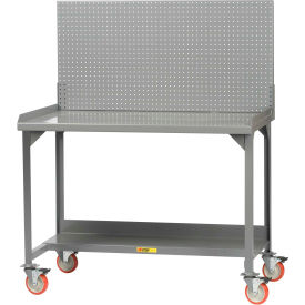 "Little Giant WM-2872-PB  Mobile Workbench, Backstop, Pegboard Panel, 28"" D x 72"" W x 36"" H"