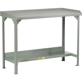 "Little Giant WSL2-2448-AH Welded Steel Workbenches w/ Back and End Stops, 24"" x 48"", Adj. Height"