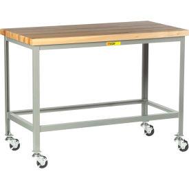 "Little Giant WT-3072-3R Mobile Butcher Block Top Tables, 30"" x 72"""