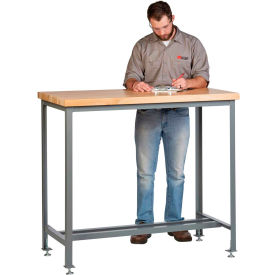 """Little Giant WT1-3072-LL-42 72""""W x 30""""D Counter Height Work Table with Butcher Block Top"""