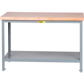 "Little Giant WTS-3072-LL Butcher Block Top Tables, 30"" x 72"", 2 Shelf"