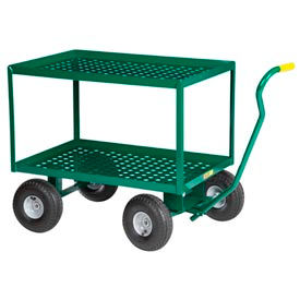 "Little Giant® 2-Shelf Wagon Truck, 24 x 36, 10"" Pneumatic Wheels"