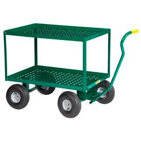 """Little Giant® 2 Shelf Nursery Wagon Truck 2LDWP-2436-10PG 24 x 36 10"""" Pneumatic Wheels"""