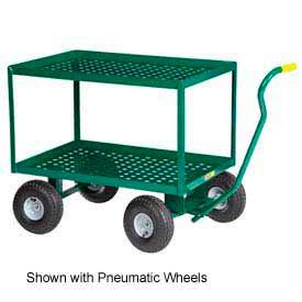 """Little Giant® 2 Shelf Nursery Wagon Truck 2LDWP-2436-8S-G 24 x 36 8"""" Rubber Wheels"""
