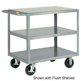 Little Giant® HD Welded Shelf Truck 3GL-3048-6PHBK, 3 Lip Shelves, 30 x 48