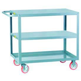 Little Giant® All Welded Service Cart 3LG-1824-BRK, Flush Top & Middle Shelves, 18 x 24