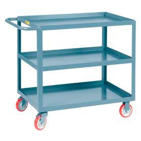 Little Giant All Welded Service Cart 3LGL-3048-BRK, 3 Lip Shelves, 30 x 48 by