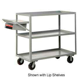 Little Giant® Multi-Shelf Truck 3M-2436-6PH-WSP 3 Flush Shelves 24x36 Writing Shelf Pocket
