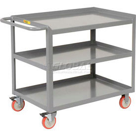 Little Giant® Mobile Workstation 3MW-2436-5TL, 3 Shelf, 24 x 36