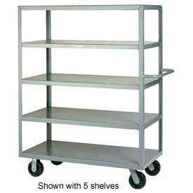 Little Giant® Multi-Shelf Truck 4M-2436-6PH, 4 Flush Shelves, 24 x 36