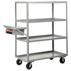 Little Giant® Multi-Shelf Truck 4ML-2436-6PH-WSP, 4 Lip Shelves 24x36 Writing Shelf Pocket