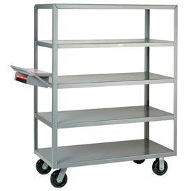 Little Giant® Multi-Shelf Truck 5M-2436-6PH-WSP 5 Flush Shelves 24x36 Writing Shelf Pocket