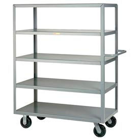 Little Giant® Multi-Shelf Truck 5M-2448-6PH, 5 Flush Shelves, 24 x 48