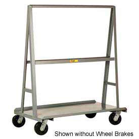 """Little Giant® """"A"""" Frame Sheet & Panel Truck AF3672-BK, 36 x 72 with Brake Wheels"""