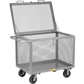 Little Giant® Box Truck with Hinged Lid BTXL2448-6MR, Expanded Metal Sides, 24 x 48