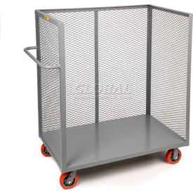 Little Giant® 3-Sided Bulk Truck CA-3048-8PPY Mesh Sides 30x48 8 x 2 Polyurethane Wheels
