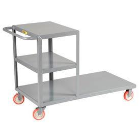 Little Giant® Combo Cart Combination Platform & Shelf Truck CC-2448-5PYBK, 24 x 48