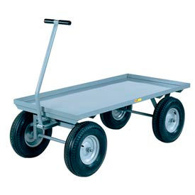 Little Giant® Wagon Truck Lip Deck CH-3048-16P - 30 x 48 - Pneumatic Wheels - 3000 Lb. Cap.