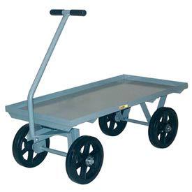 Little Giant® Wagon Truck CH-3660-12MR - Lip Deck - 36 x 60 - Mold-on Rubber Wheels