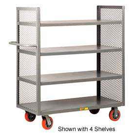 Little Giant® 2-Sided Shelf Truck DET3-3060-6PY, 3 Shelves, 30 x 60