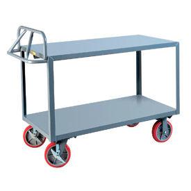Little Giant® Welded Shelf Truck ERG-2448-8PYBK, Flush Shelves, 24 x 48