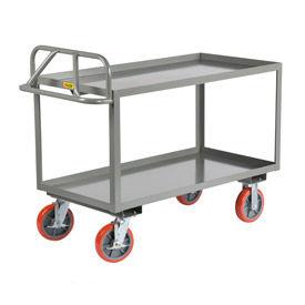 Little Giant® Welded Shelf Truck ERGL-2448-8PYBK, Lip Shelves, 24 x 48