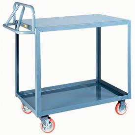 Little Giant® Ergonomic Welded Shelf Truck ERLG-3048-BRK, Flush Top Shelf, 30 x 48