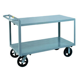 Little Giant® Merchandise Collector G-2436-8MR Flush Shelves 24x36 8 x 2 Rubber Wheels