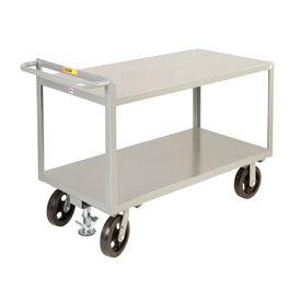 Little Giant® Merchandise Collector G-3060-8MRFL, 30x60 Flush Shelves Floor Lock