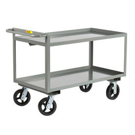 Little Giant® Merchandise Collector GL-3048-8MR Tray Type Shelves 30x48 8x2 Rubber Wheels