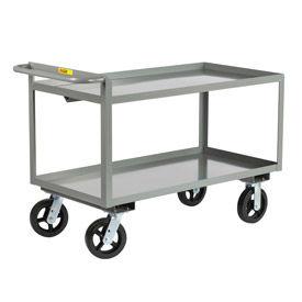 Little Giant® Merchandise Collector GL-3048-8PYBK, Tray Type Shelves 30x48 Poly Wheels
