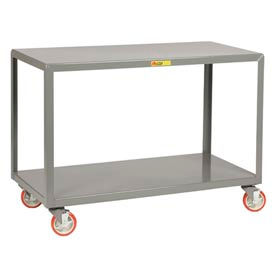 Little Giant® Mobile Table, 2 Shelf, 24 x 48, Wheel Brakes