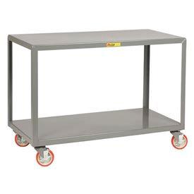 Little Giant® Mobile Table IP-2460-2BRK, 2 Shelf, 24 x 60, Wheel Brakes