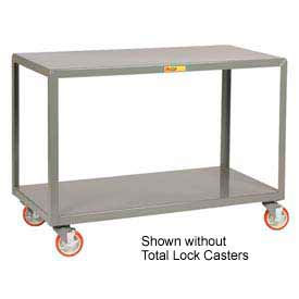 Little Giant® Mobile Table IP-2460-2TL, 2 Shelf, 24 x 60, Locking Casters