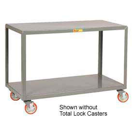 Little Giant® Mobile Table IP-3048-2TL, 2 Shelf, 30 x 48, Locking Casters