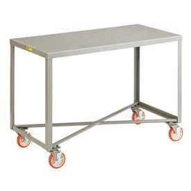 Little Giant® Mobile Table IP-3072RM-BRK, 1 Shelf, 30 x 72