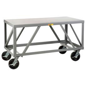 Little Giant® Extra Heavy-Duty 7 Gauge Mobile Table IPH-3672-8PHBK, 36 x 72