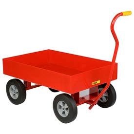 "Little Giant® Wagon Truck, Steel Deck w/6"" Sides, 10 x 2.75 Rubber Wheel"
