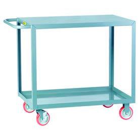 Little Giant® All Welded Service Cart LG-2448-BRK, 2 Flush Shelves, 24 x 48