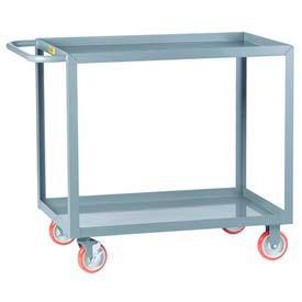 Little Giant® All Welded Service Cart LGL-2436-BRK, 2 Lip Shelves, 24 x 36