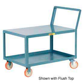 Little Giant® Low Deck Shelf Truck LKL-2448-5PYBK, Lip Shelves, Sloped Handle, 24 x 48